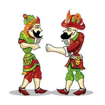 karagoz and hacivar / Turkey